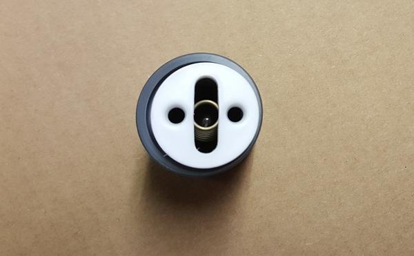 Assembled spring loaded valve