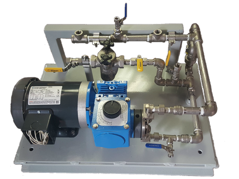 Packaged chemical metering pump system