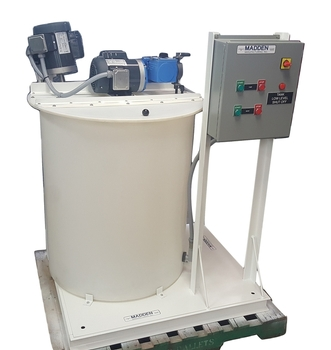 Chemical metering pump, chemical feed system