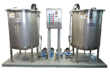 packaged chemical feed system for boiler water treatment