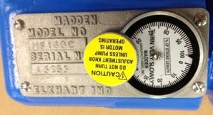 Madden Pump Adjustment Dial